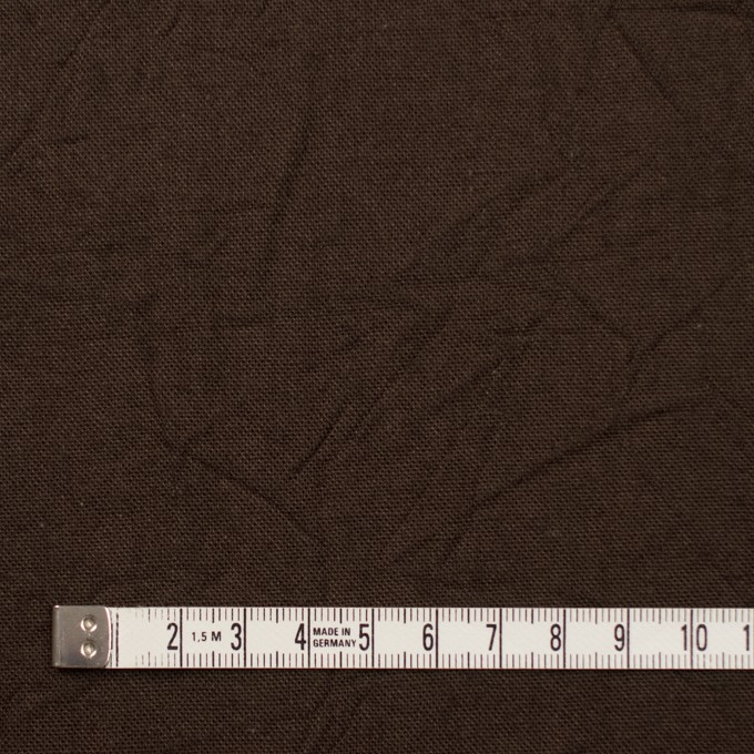 コットン&リネン×無地(カーキブラウン)×キャンバスワッシャー_全15色 イメージ4