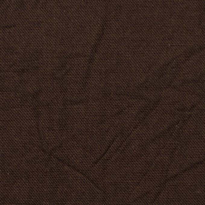 コットン&リネン×無地(カーキブラウン)×キャンバスワッシャー_全15色 イメージ1