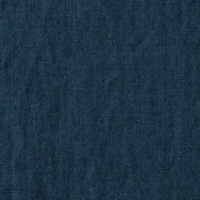 リネン&コットン×無地(アイアンネイビー)×シーチング_全36色 イメージ1