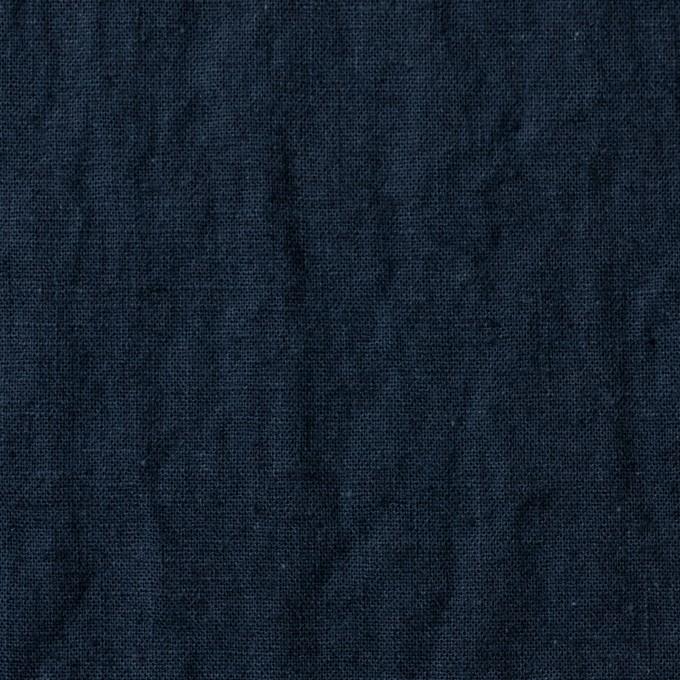 リネン&コットン×無地(ダークネイビー)×シーチング_全36色 イメージ1