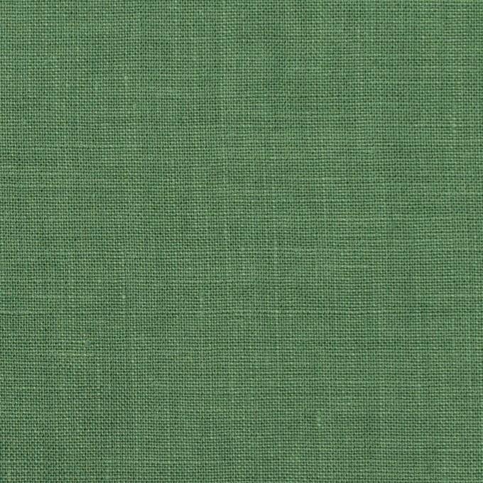 リネン×無地(フォレストグリーン)×薄キャンバス_全25色 イメージ1