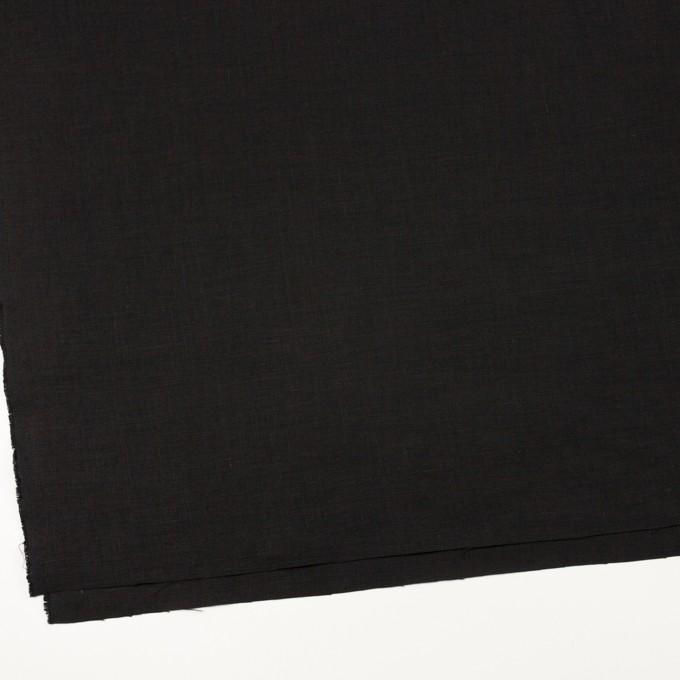 リネン×無地(ブラック)×薄キャンバス_全20色 イメージ2