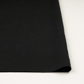 リネン×無地(ブラック)×薄キャンバス_全20色 サムネイル3
