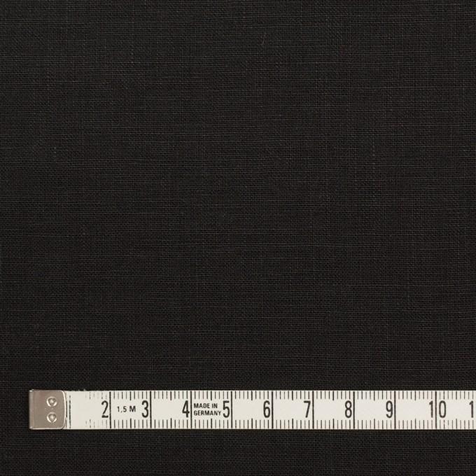 リネン×無地(ブラック)×薄キャンバス_全25色 イメージ4