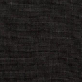 リネン×無地(ブラック)×薄キャンバス_全25色