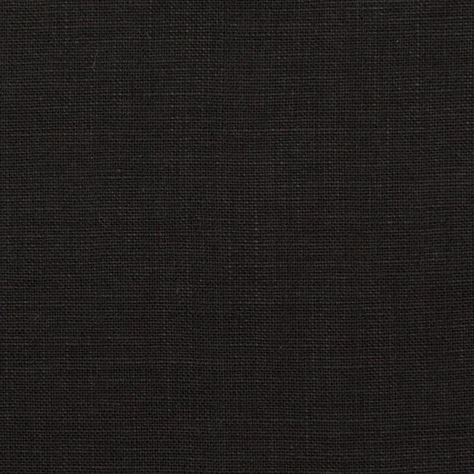 リネン×無地(ブラック)×薄キャンバス_全20色 イメージ1