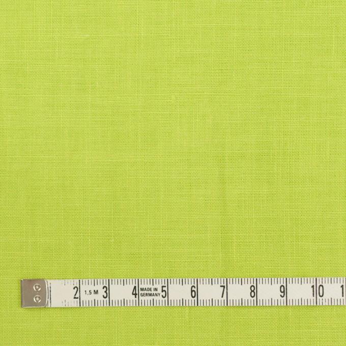 リネン×無地(ライムグリーン)×薄キャンバス_全25色 イメージ4