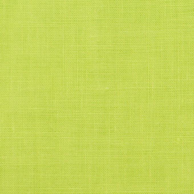 リネン×無地(ライムグリーン)×薄キャンバス_全25色 イメージ1