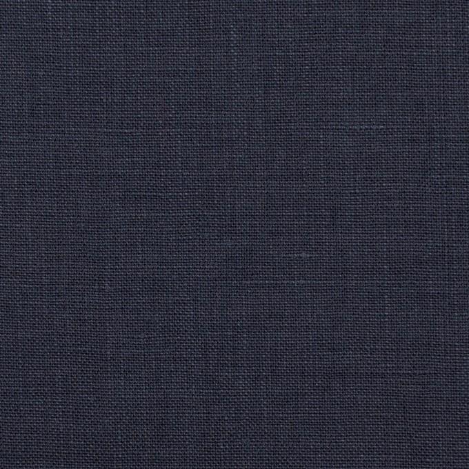 リネン×無地(ダークネイビー)×薄キャンバス_全25色 イメージ1