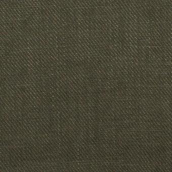 リネン×無地(オリーブグリーン)×サージ_全22色