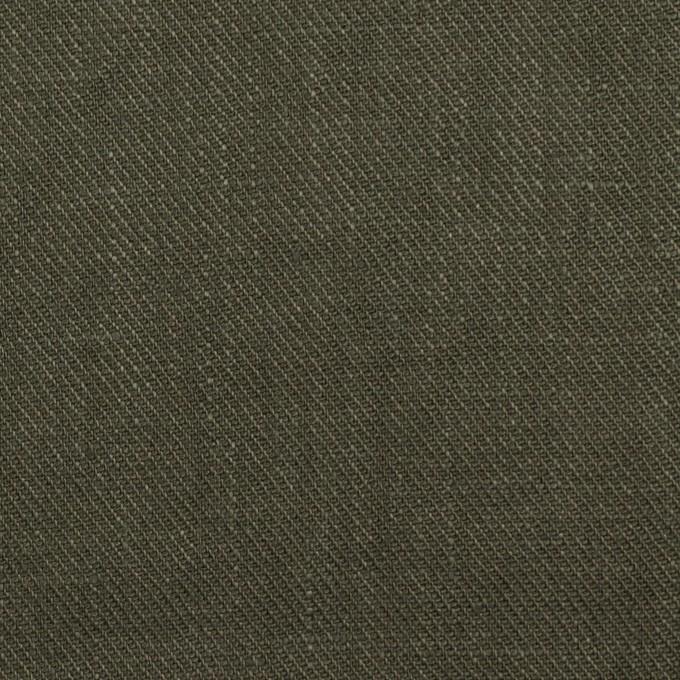 リネン×無地(オリーブグリーン)×サージ_全22色 イメージ1
