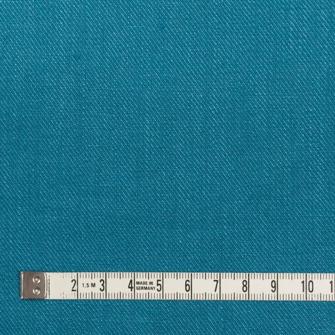 リネン×無地(ターコイズブルー)×サージ_全22色 イメージ4