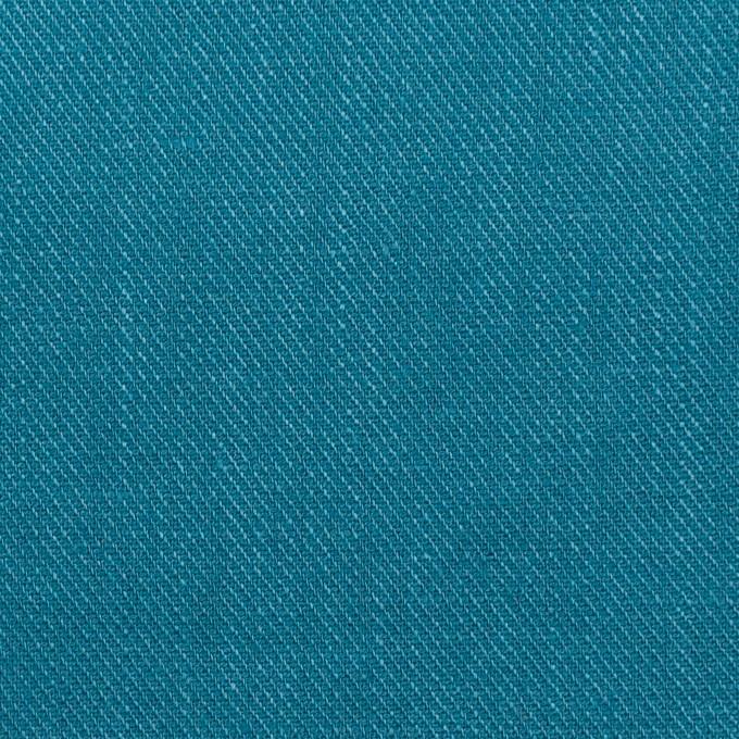 リネン×無地(ターコイズブルー)×サージ_全22色 イメージ1