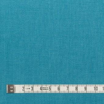 リネン×無地(エメラルドブルー)×サージ_全22色 サムネイル4