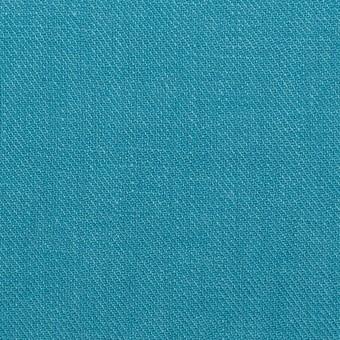 リネン×無地(エメラルドブルー)×サージ_全22色