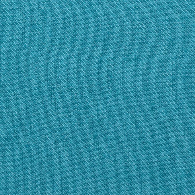 リネン×無地(エメラルドブルー)×サージ_全22色 イメージ1