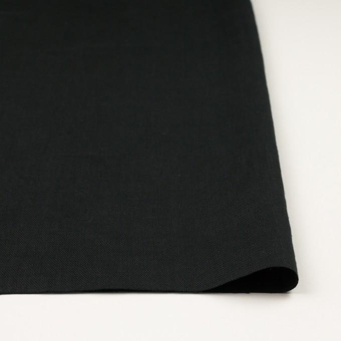 リネン×無地(ブラック)×サージ_全22色 イメージ3