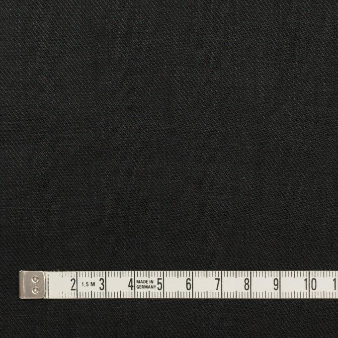リネン×無地(ブラック)×サージ_全22色 イメージ4