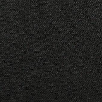 リネン×無地(ブラック)×サージ_全22色