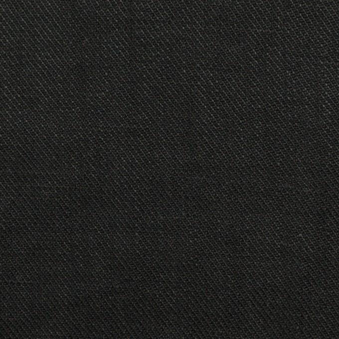 リネン×無地(ブラック)×サージ_全22色 イメージ1