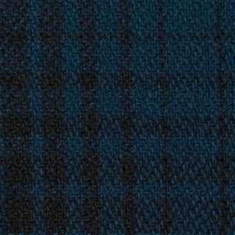 ウール×チェック(ネイビー)×ツイード_全3色 サムネイル1