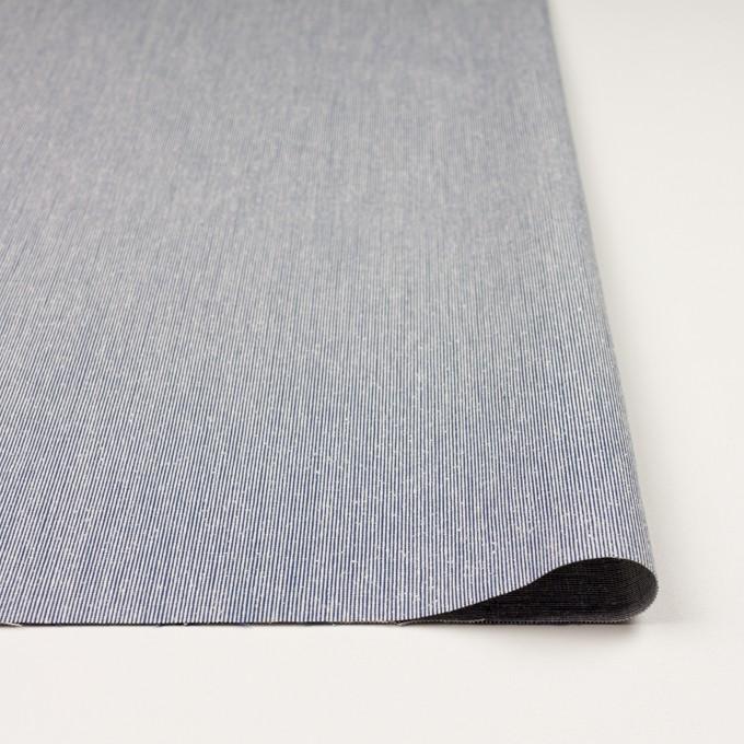 シルク&コットン×ストライプ(ブルー)×コードレーン イメージ3