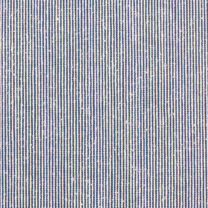 シルク&コットン×ストライプ(ブルー)×コードレーン イメージ1