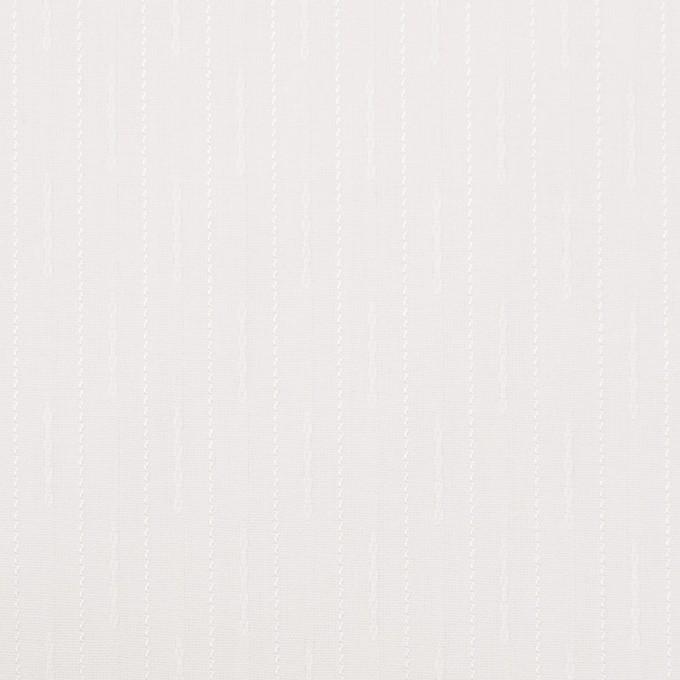 コットン&レーヨン×ストライプ(オフホワイト)×ブロードジャガード イメージ1