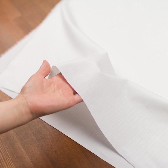コットン&レーヨン×ストライプ(オフホワイト)×ブロードジャガード イメージ5