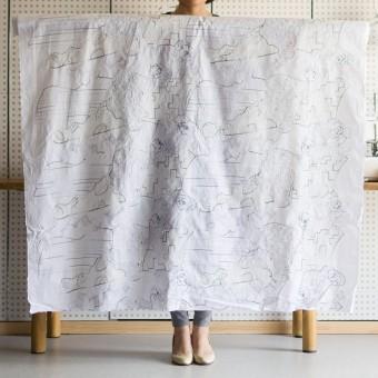 コットン×幾何学模様(ホワイト)×ローン刺繍_全3色_イタリア製 サムネイル2