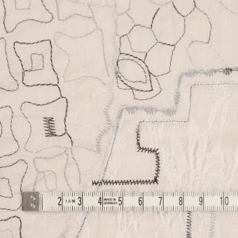 コットン×幾何学模様(ウォームベージュ)×ローン刺繍_全3色_イタリア製 サムネイル4