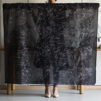 コットン×幾何学模様(ブラック)×ローン刺繍_全3色_イタリア製 サムネイル2