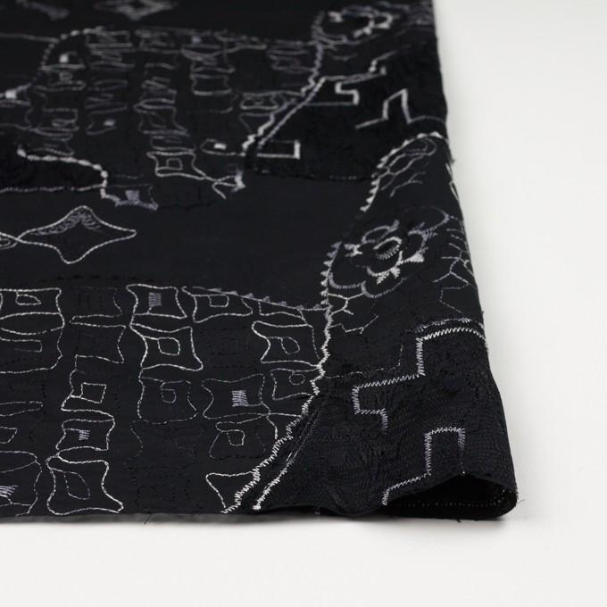 コットン×幾何学模様(ブラック)×ローン刺繍_全3色_イタリア製 イメージ3