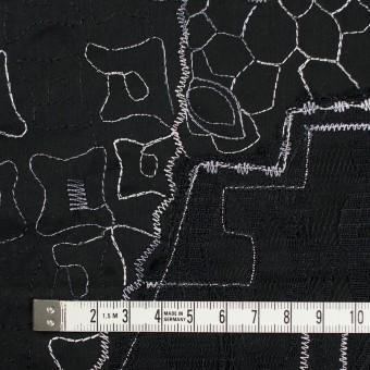 コットン×幾何学模様(ブラック)×ローン刺繍_全3色_イタリア製 サムネイル4