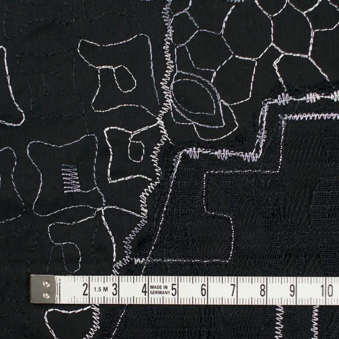 コットン×幾何学模様(ブラック)×ローン刺繍_全3色_イタリア製 イメージ4