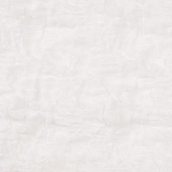 コットン&ナイロン混×無地(オフホワイト)×シャーリングメッシュニット_全4色