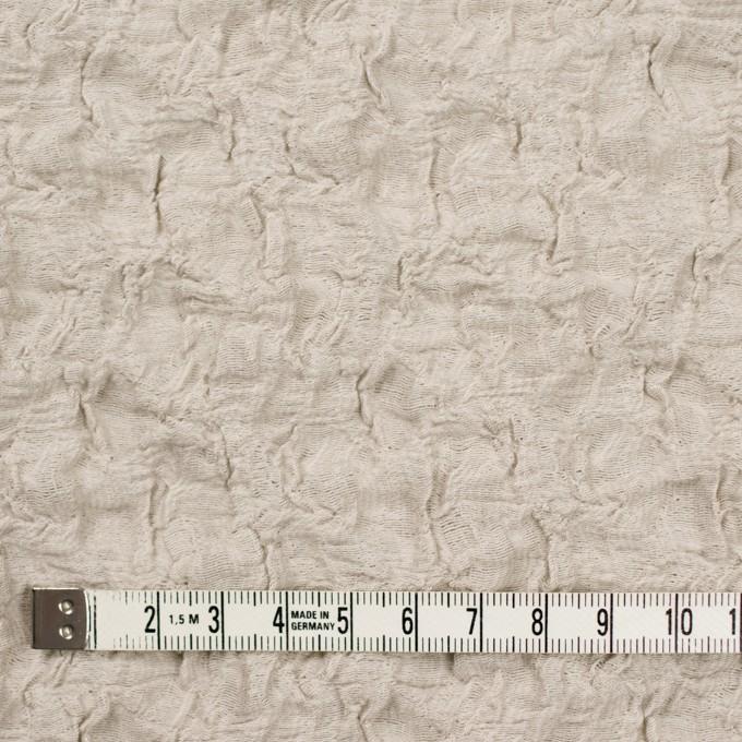 コットン&ナイロン混×無地(グレイッシュベージュ)×シャーリングメッシュニット_全4色 イメージ4