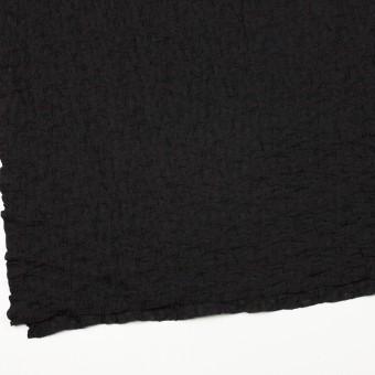 コットン&ナイロン混×無地(ブラック)×シャーリングメッシュニット_全4色 サムネイル2
