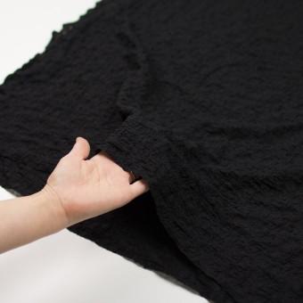 コットン&ナイロン混×無地(ブラック)×シャーリングメッシュニット_全4色 サムネイル5