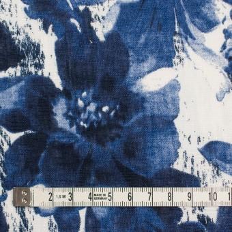 リネン×フラワー(ブルー)×薄キャンバス_イタリア製 サムネイル4
