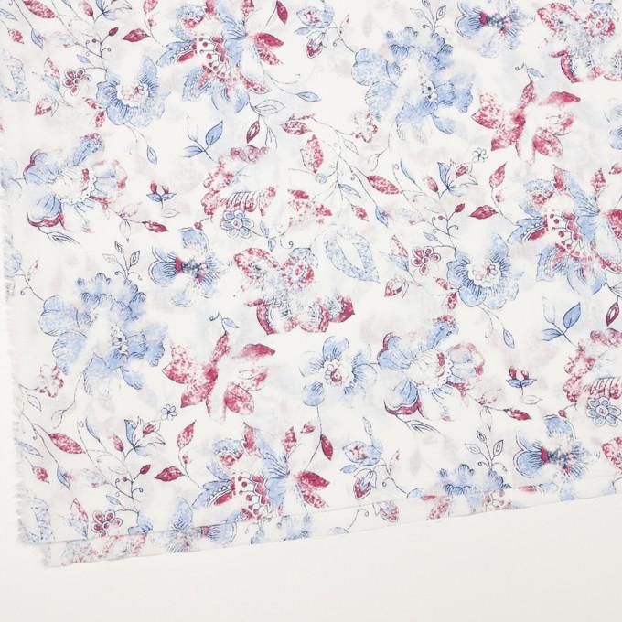 コットン×フラワー(サルビアブルー)×スラブローン_イングランド製 イメージ2