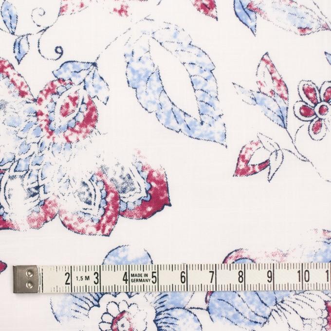 コットン×フラワー(サルビアブルー)×スラブローン_イングランド製 イメージ4