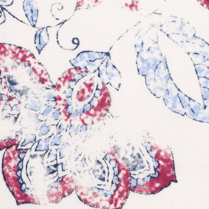 コットン×フラワー(サルビアブルー)×スラブローン_イングランド製 イメージ1