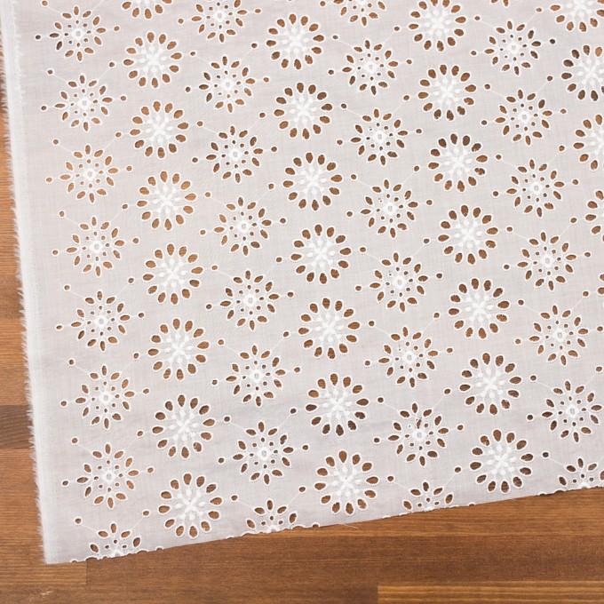 コットン×フラワー(ホワイト)×ボイル刺繍_全2色 イメージ2