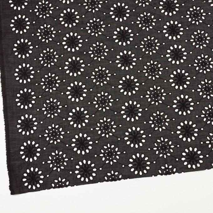 コットン×フラワー(ブラック)×ボイル刺繍_全2色 イメージ2