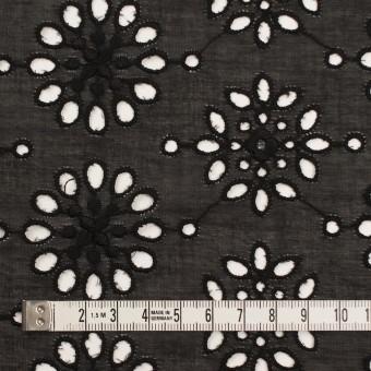 コットン×フラワー(ブラック)×ボイル刺繍_全2色 サムネイル4