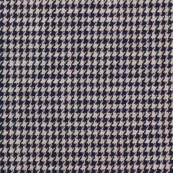 リネン×チェック(キナリ&ダークネイビー)×千鳥格子 サムネイル1