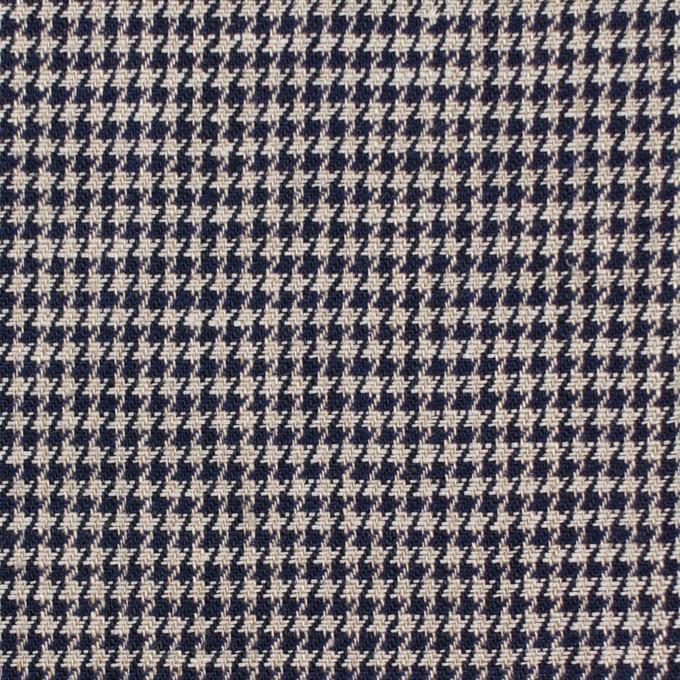 リネン×チェック(キナリ&ダークネイビー)×千鳥格子 イメージ1