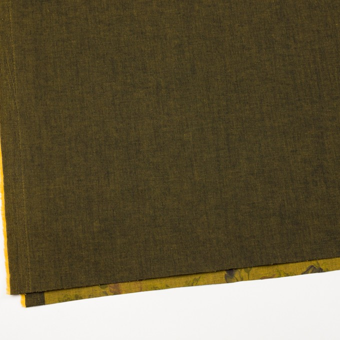 コットン&ポリエステル混×無地&フラワー(ターメリック)×デニムストレッチ_バックプリント_全4色 イメージ2