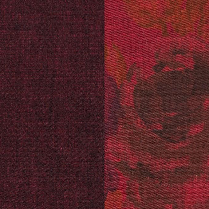 コットン&ポリエステル混×無地&フラワー(アップル)×デニムストレッチ_バックプリント_全4色 イメージ1